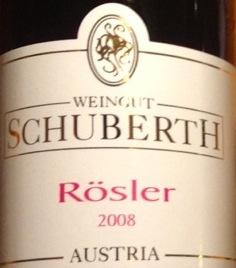 2008er Rösler vom Weingut Schuberth